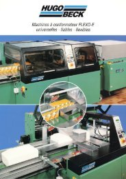 FLEXO 500 E machine à pousseur - Hugo Beck ...