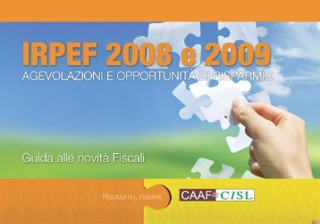 IRPEF 2008 e 2009 - Fimbrianza.brianzaest.it