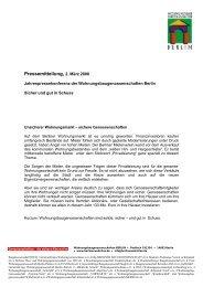 03/06 Pressemitteilung der IMAGE-Kampagne - Wohnungsbau ...