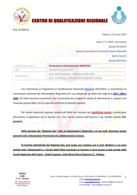 Fipav Veneto Calendario.Vai Alla Lista Dei Convocati Fipav Comitato Regionale Veneto
