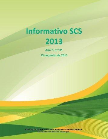 Informativo SCS 2013 - Ministério do Desenvolvimento, Indústria e ...