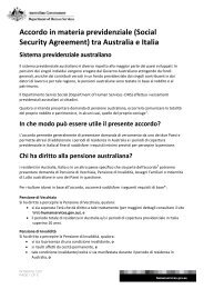International Social Security Agreement between Australia and Italy ...