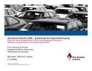 Automotive Monitor 2009 – Ergebnisse der ... - Homburg & Partner