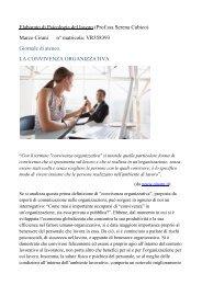 La convivenza organizzativa