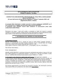 Nota informativa contratto di assicurazione RCA - plataroti ...