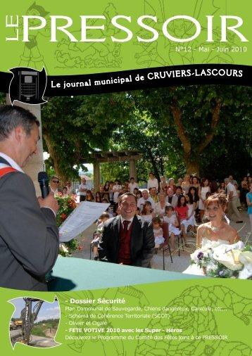 Le journal municipal de CRUVIERS-LASCOURS