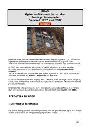 BILAN Opération Micromarché Lorraine Soirée professionnelle ...