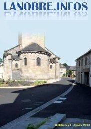 Bulletin municipal 2013 - Ville de Lanobre