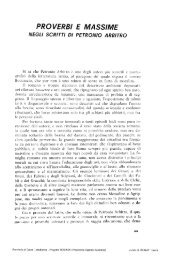 proverbi e massime negli scritti di petronio arbitro - culturaservizi.it