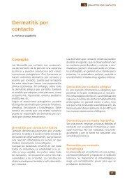 Dermatitis por contacto - Asociación Española de Pediatría