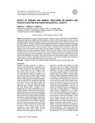 Effect of organic and mineral fertilizers on growth and yield - Bioinfo ...