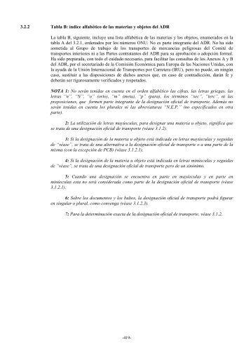 3.2.2 Tabla B: índice alfabético de las materias y objetos del ADR La ...
