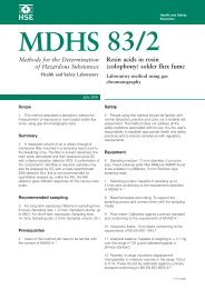 MDHS83/2 - Resin acids in rosin(colophony) solder flux fume - HSE