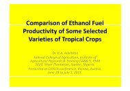 Comparison of Ethanol Fuel Productivity of Some Selected Varieties ...