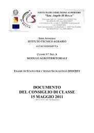 documento del 15 maggio 2011 - IIS sen. Di Rocco