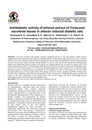 Antidiabetic activity of ethanol extract of Colocasia esculenta leaves ...