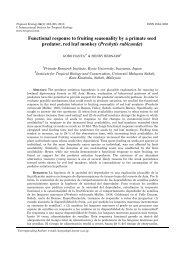 Functional response to fruiting seasonality by a primate seed ...