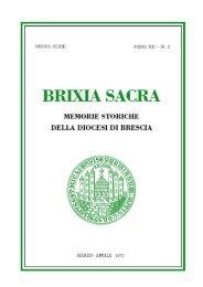 Nuova serie (1977) XII, fascicolo 2 - Brixia Sacra