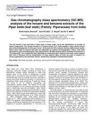 Gas chromatography mass spectrometry (GC-MS) - Academic ...