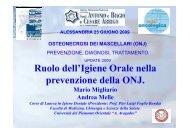 14 Ruolo dell'igiene orale nella prevenzione della ONJ