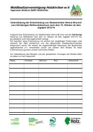 Unterschriftenaktion - WBV Holzkirchen