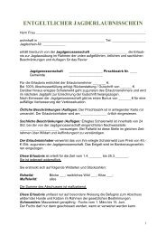 ENTGELTLICHER JAGDERLAUBNISSCHEIN - WBV Holzkirchen