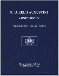 S. AURELII AUGUSTINI CONFESSIONES - World eBook Library