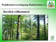 Eigenbewirtschaftung - WBV Holzkirchen