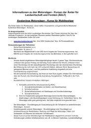 Informationen zu den Motorsägen - Kursen der ... - WBV Holzkirchen