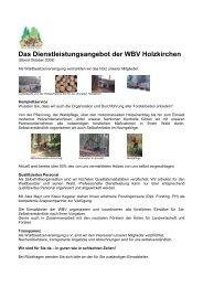Forstdienstleistungen - WBV Holzkirchen