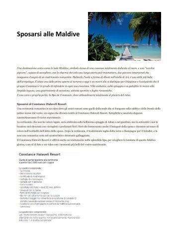 Sposarsi alle Maldive - Acitur