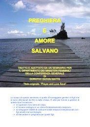 PREGHIERA E AMORE SALVANO - Risorse Avventiste