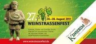 27. 26.–28. August 2011 - Weinstrassenfest Kinheim-Kindel