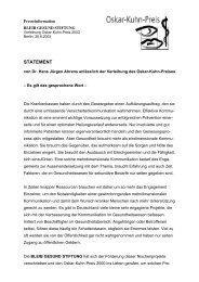 von Dr. Hans Jürgen Ahrens anlässlich der Verleihung - WDV ...