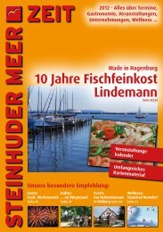 """10 Jahre """"Fischfeinkost Lindemann"""" - KONTOR3 Werbeagentur"""