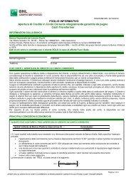 Apertura di Credito in Conto Corrente Integralmente Garantita ... - Bnl