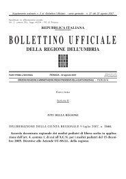 Accordo Integrativo Regionale Pediatria di Libera ... - Regione Umbria
