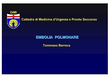 EMBOLIA POLMONARE - Altervista