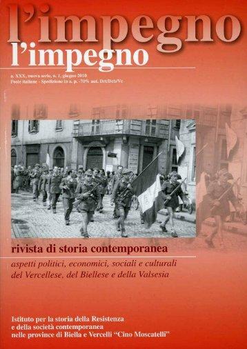 """""""l'impegno"""" (1/2010) in formato pdf - Istituto per la storia della ..."""