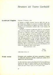 Strutture del Teatro Garibaldi Enrico Caruso a ... - Trapani Nostra