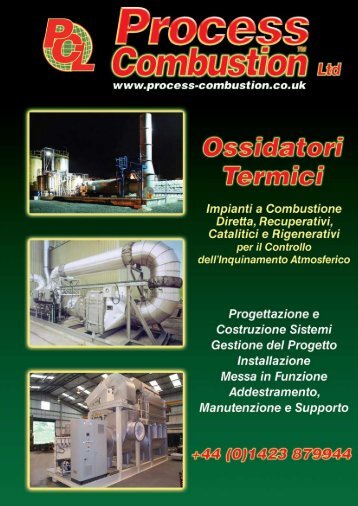 Ossidatori Termici - Process Combustion Limited