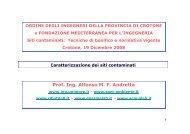 Prof. Ing. Alfonso M. F. Andretta - Ordine degli Ingegneri di Crotone