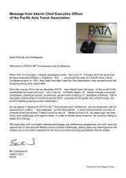 Message from Interim Chief Executive Officer of the Pacific Asia ...