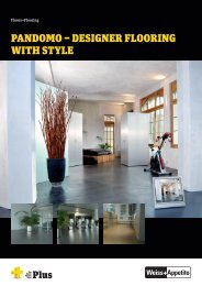 Pandomo – designer flooring with style - Weiss+Appetito