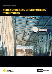 strengthening of supporting structures - Weiss+Appetito