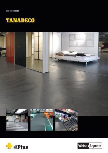 TANADECO - dekorativer Zement-Kunstharz-Belag - Weiss+Appetito