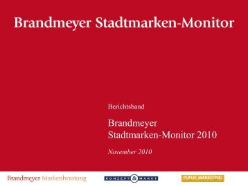 Brandmeyer Stadtmarken-Monitor - Konzept und Markt