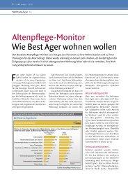 Altenpflege-Monitor Wie Best Ager wohnen wollen  - Konzept und ...