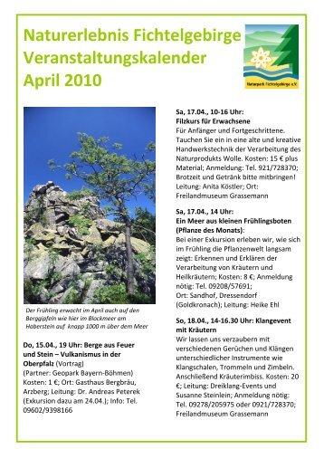 Newsletter April 2010 - Weißenstadt