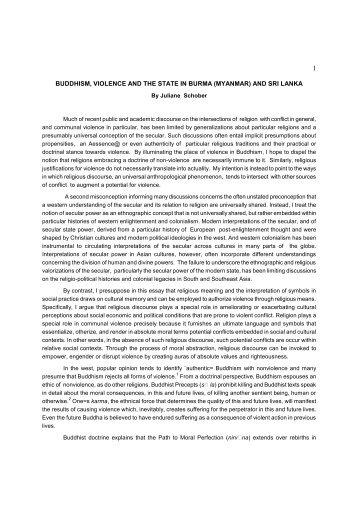 buddhism, violence and the state in burma (myanmar) and sri lanka